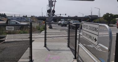 A so-called zip gate has been installed at a SMART train crossing in Rohnert Park near where a pedestrian and cyclist were fatally struck by trains in June 2019.