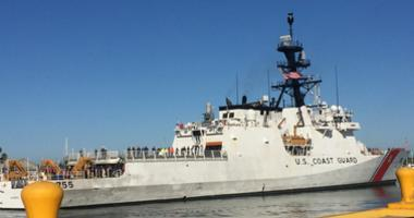 The U.S. Coast Guard Cutter Munro returned to Alameda on July 15, 2019 after intercepting an alleged drug-smuggling boat near San Diego.