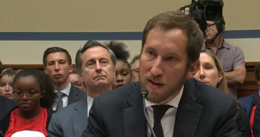 James Monsees, co-founder of San Francisco-based Juul, testifies before the House Committee Oversight and Reform Economic and Consumer Policy subcommittee on July 25, 2019.
