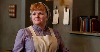 """Lesley Nicol as """"Mrs. Patmore"""" of """"Downton Abbey'"""
