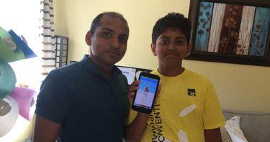 Seventh grader Aryan Mangal of Fremont won a national award for the app he invented to prevent child abuse.