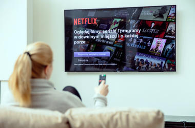 WROCLAW, POLAND - APRIL 03rd, 2018: Netflix is an american entertainment company specialized in streaming media.