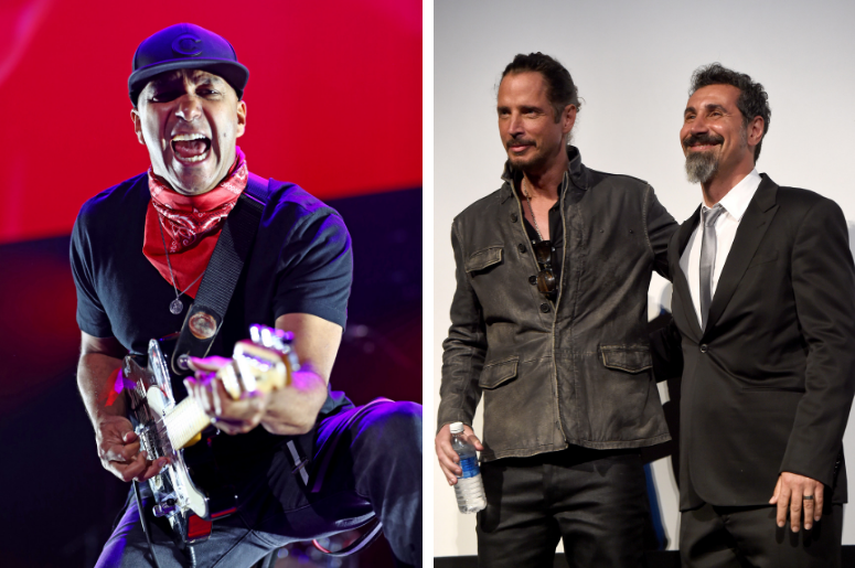 Tom Morello, Chris Cornell, Serj Tankian