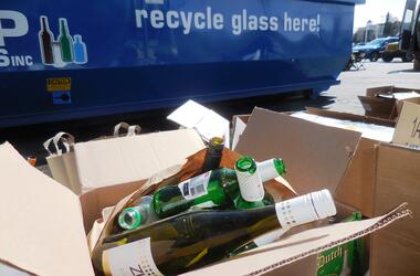 PRC glass recycling