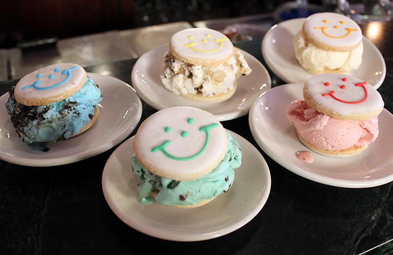 Klavon's Smiley Cookie Ice Cream Sandwiches