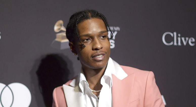 A$AP Rocky at Pre-Grammy Gala And Salute To Industry Icons in Beverly Hills