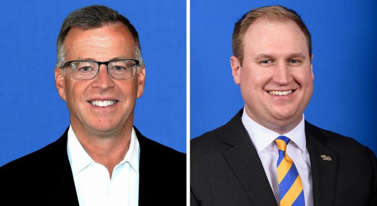 Pitt Broadcasters Larry Richert and Pat Bostick