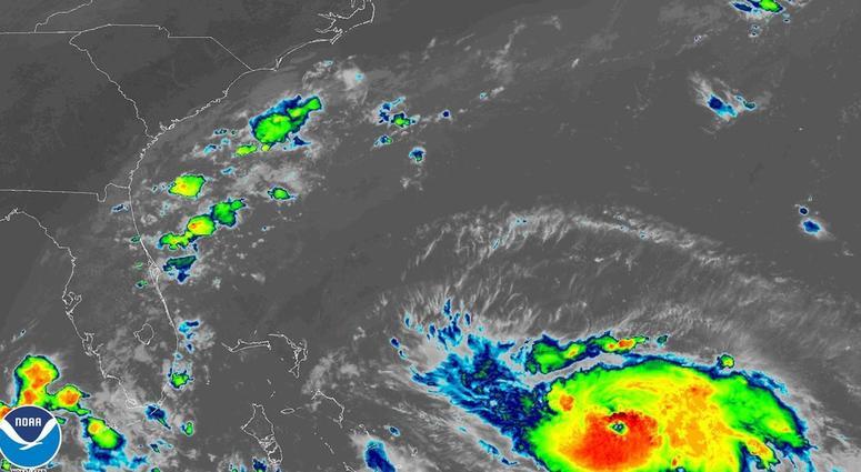 Satellite image of Hurricane Dorian on Friday, Aug. 30, 2019