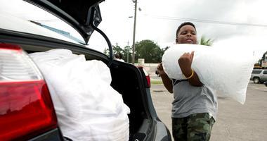 Xavier McKenzie prepares for Hurricane Michael in Panama City, Fla.