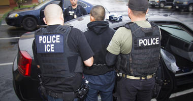 U.S. Immigration and Customs Enforcement, foreign nationals are arrested during a targeted enforcement operation conducted by U.S. Immigration and Customs Enforcement