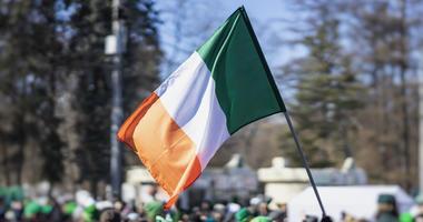 Flag of Ireland close-up