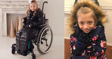 How Mom's Coat Creation Saved Recess For 9-Year-Old Daughter In Wheelchair