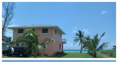 a before-and-after photograph of the Nagy-Bonner's vacation home on Grand Bahama Island in the Bahamas