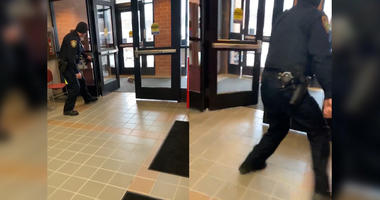 Watch Cops Freak Out Over Squirrel Breaking Into Police Precinct