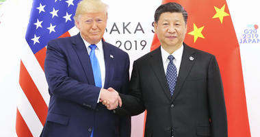Chinese President Xi Jinping meets with U.S. President Donald Trump