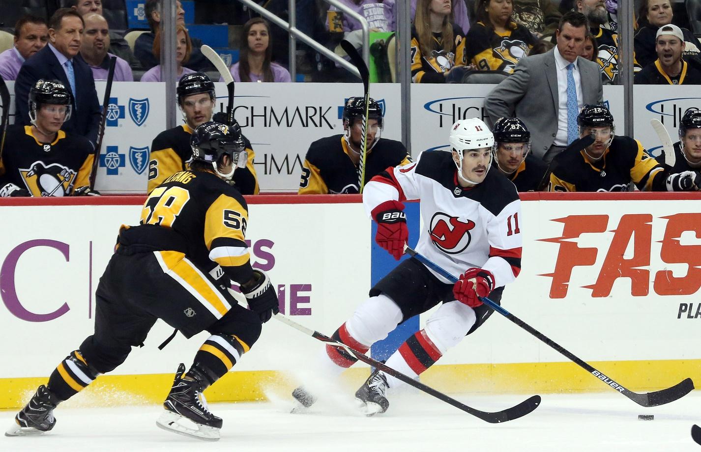 a82f7c6a5 Boyle's Hat Trick Helps Devils Defeat Penguins | 93.7 The Fan