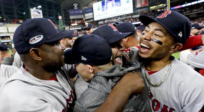 ff87896ea Boston Red Sox celebrate World Series-bound