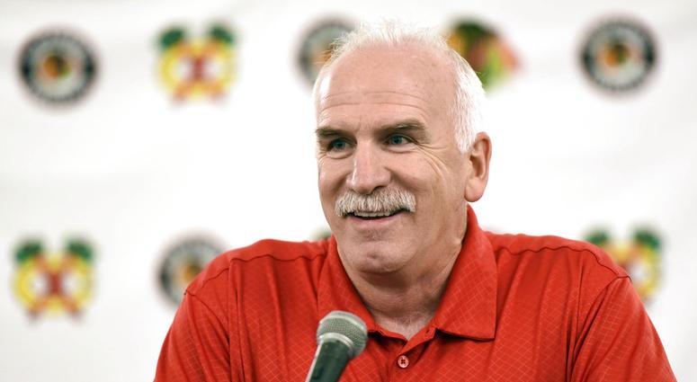 Chicago Blackhawks' head coach Joel Quenneville