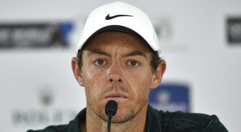 Rory McIlroy gives a press conference ahead of the DP World Tour Championship golf tournament in Dubai, United Arab Emirates