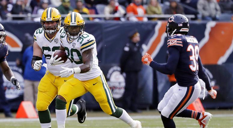 Green Bay Packers running back Jamaal Williams