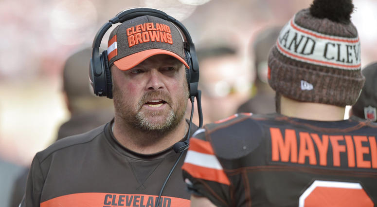 Cleveland Browns offensive coordinator Freddie Kitchens