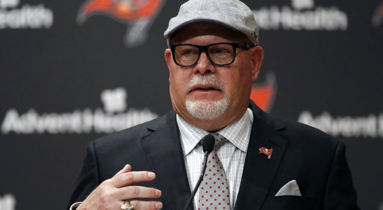 New Tampa Bay Buccaneers head coach Bruce Arians