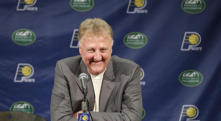 Indiana Pacers NBA basketball team president Larry Bird