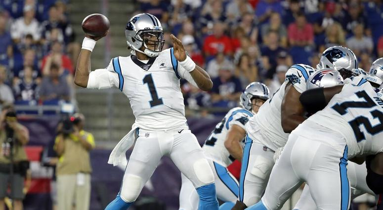 6d198c96 Panthers QB Newton Leaves Exhibition Game With Foot Injury | 93.7 ...