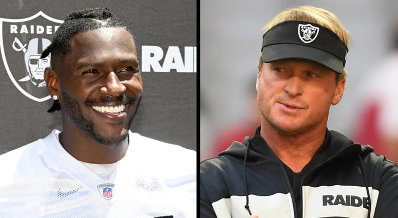 Antonio Brown and Jon Gruden