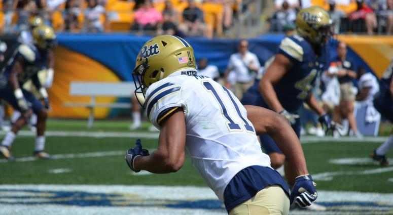 Pitt WR Taylor Mack at the Spring Game in 2018