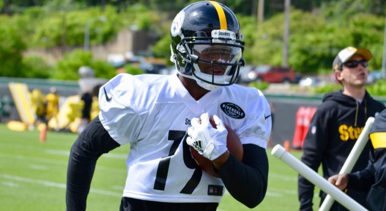 Steelers wide receiver JuJu Smith-Schuster at OTAs in 2019