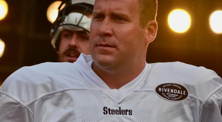 Steelers QB Ben Roethlisberger at Heinz Field practice in 2018
