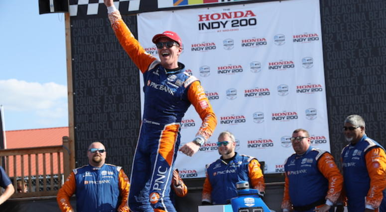PNC Bank Chip Ganassi Racing's Scott Dixon Wins The Honda Indy 200 At Mid-Ohio