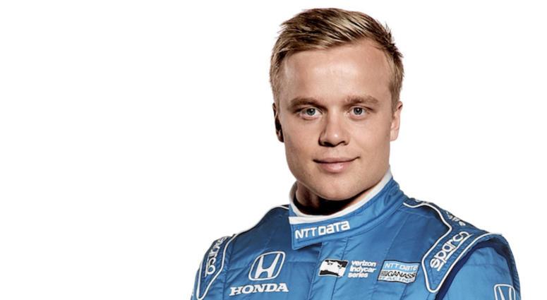 NTT DATA Chip Ganassi Racing Driver Felix Rosenqvist