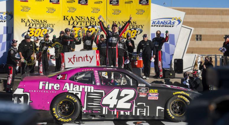 John Hunter Nemechek Gets First Xfinity Series Win At Kansas Speedway In No. 42 Chip Ganassi Racing Chevrolet Camaro