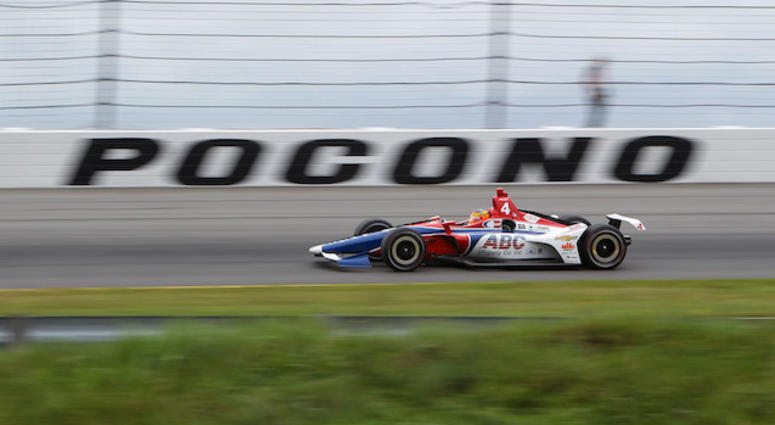 ABC Supply AJ Foyt Racing's Matteus Leist At Pocono Raceway