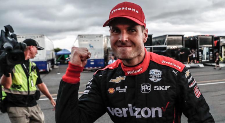 Will Power Celebrates After Winning ABC Supply 500 At Pocono Raceway