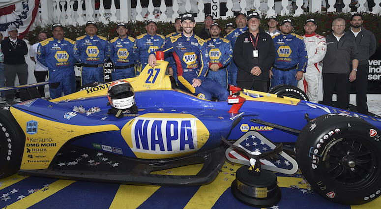 Alexander Rossi And The NAPA Andretti Autosport Crew Win ABC Supply 500 At Pocono