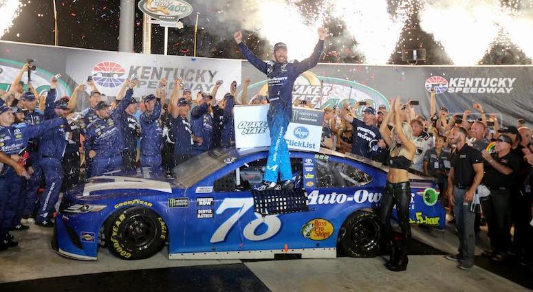 Martin Truex Jr. Celebrates Win At Kentucky Speedway