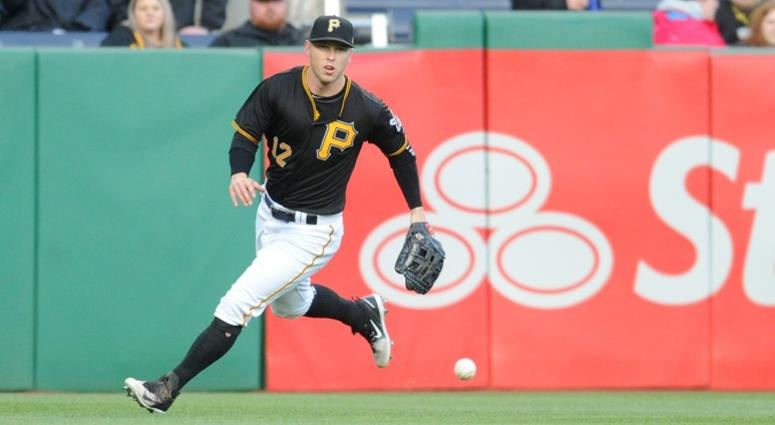 Pirates left fielder Corey Dickerson