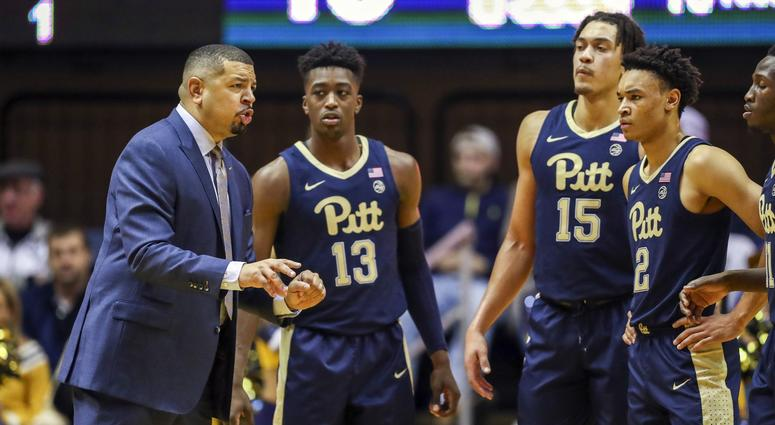 Jeff Capel talks to his players