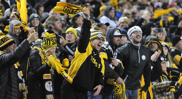Steelers fans cheering