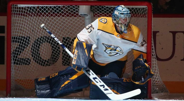 Nashville's Pekka Rinne.