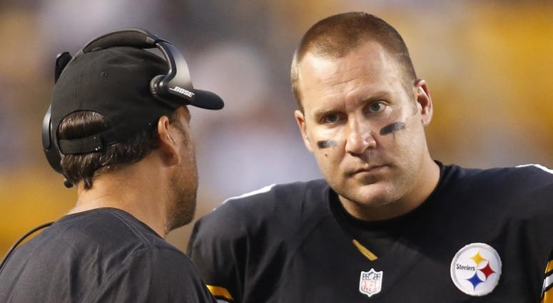 Steelers QB Ben Roethlisberger And Offensive Coordinator Todd Haley