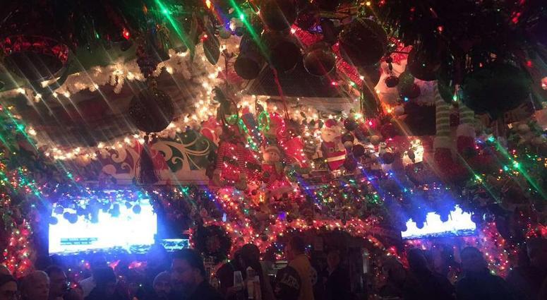 Christmas-themed Bar