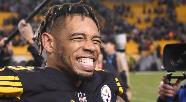 Pittsburgh Steelers cornerback Joe Haden (23) celebrates a win against the New England Patriots at Heinz Field.