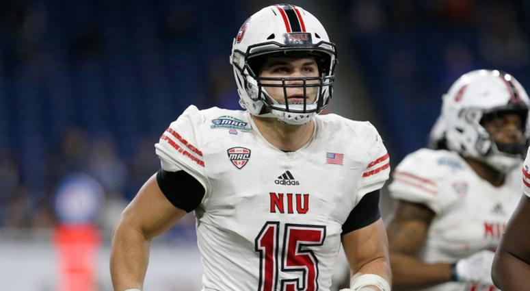 7aab71e87 Northern Illinois Huskies defensive end Sutton Smith (15) against the  Buffalo Bulls at Ford