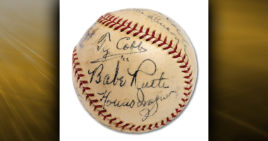Baseball Signed By Babe Ruth and Other Legends Sells For Record-Breaking $623,369