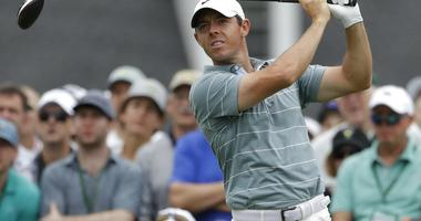 Rory McIlroy, of Northern Ireland, hits a drive on the first hole during the third round for the Masters golf tournament, in Augusta, Ga. McIlroy is at the Wells Fargo Championship this week in Charlotte, N.C., where he turns 30 on Saturday, May 4.