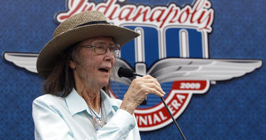 Mari Hulman George, chairman of the board of the Indianapolis Motor Speedway